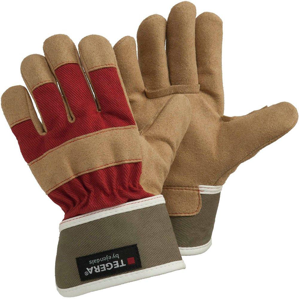 Ejendals Handschuh Tegera 90088 aus Synthetikleder, Grö ß e 7, 1 Stü ck, braun/rot, 90088-7