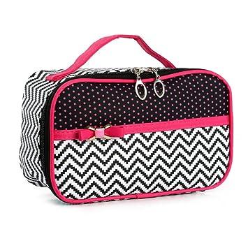 f19b85dc66ba Portable Cute Small Travel Colorful Mirror Makeup Bag Cosmetic ...