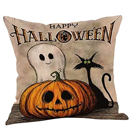 Amazon.com: Alelife Fall Halloween calabaza funda de ...