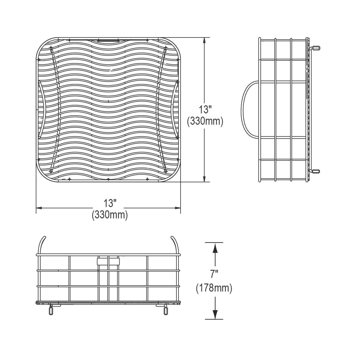 Elkay Lkwrb1414ss Wavy Wire Rinsing Basket Stainless Steel Stain Wiring Diagram Amazon Canada