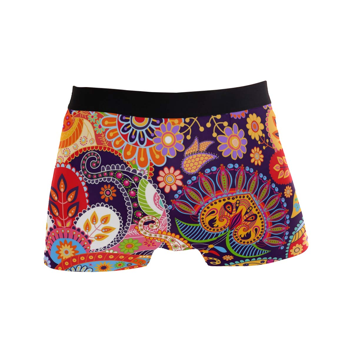 LEFEI Colorful Bright Seamless Pattern Men/'s Underwear Boxer Briefs Polyester Spandex Pouch,2-Pack