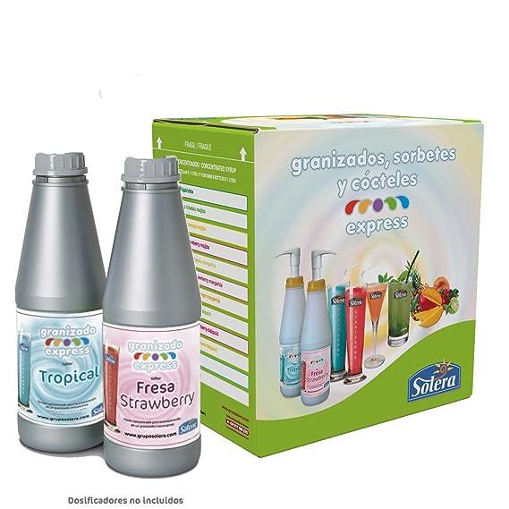 SABORES para granizado - 6 Botellas de 1 Litro concentrado=138 Litros de granizado.