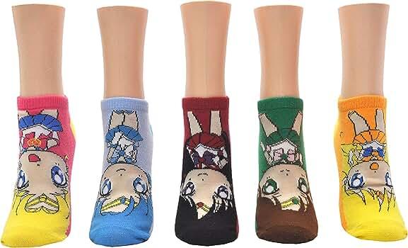 3 Pair - Sailor Moon Socks Women Sailor Moon Merchandise Low Cut Cat Socks