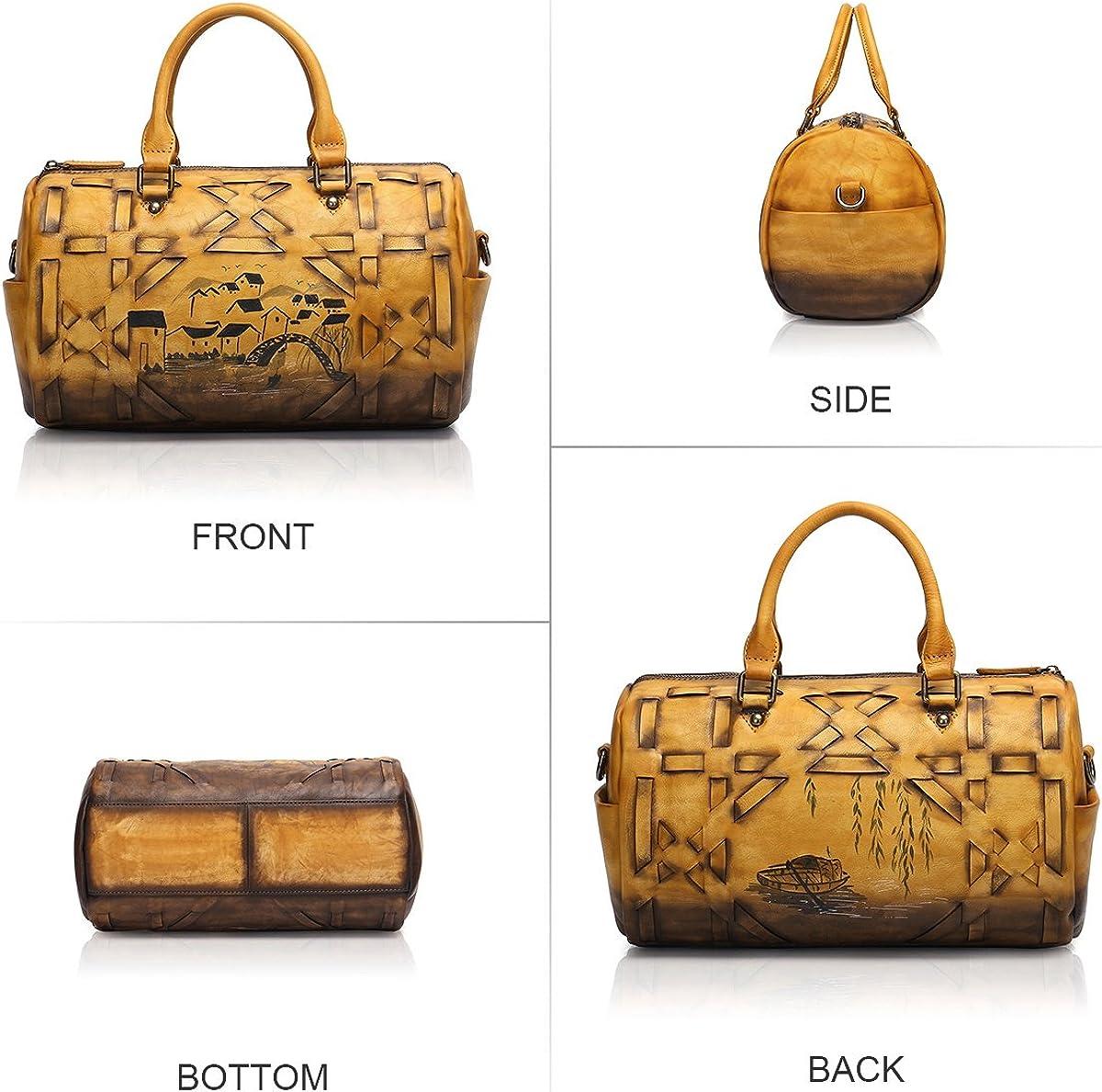APHISON Designer Soft Leather Totes Handbags for Women Ladies Satchels Shoulder Bags 8145