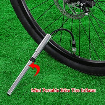 Mini Portable Bicycle Pump Bicycle Accessory Aluminum Alloy Tire Inflator Pump