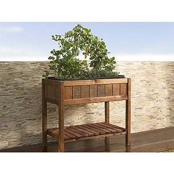 Mesa de cultivo de madera germin 40: Amazon.es: Jardín