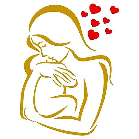Plantillas para paredes - bebé amor plantilla - reutilizable ...