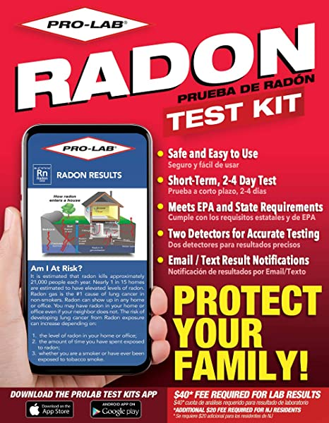 Professional Lab Inc - Professional Radon Test Kit