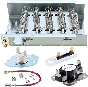 279838 Dryer Heating Element 279816 Thermal Cut-Off Kit and Thermostat 3392519 dryer thermal fuse 279838 Compatible whirlpool kenmore roper maytag estate inglis ktchenaid crosley amana