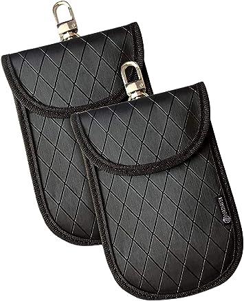 Fortaven 2 X Autoschlüssel Signal Blocker Beutel Mit 2 X Rfid Karte Schutzfolie Faraday Tasche Für Rfid Blockierung Autoschlüssel Und Schlüsselloser Einstiegsanschlüssel Starke Diebstahlschutztasche Auto