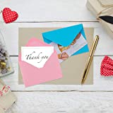 160 Pack Kraft Mini Envelopes Colorful Self Sealing Packets Envelopes with 160 Pieces Adhesive Double Sided Glue Points for Business Card, Love Notes Card, Kids Personal Gift,16 Assorted Colors