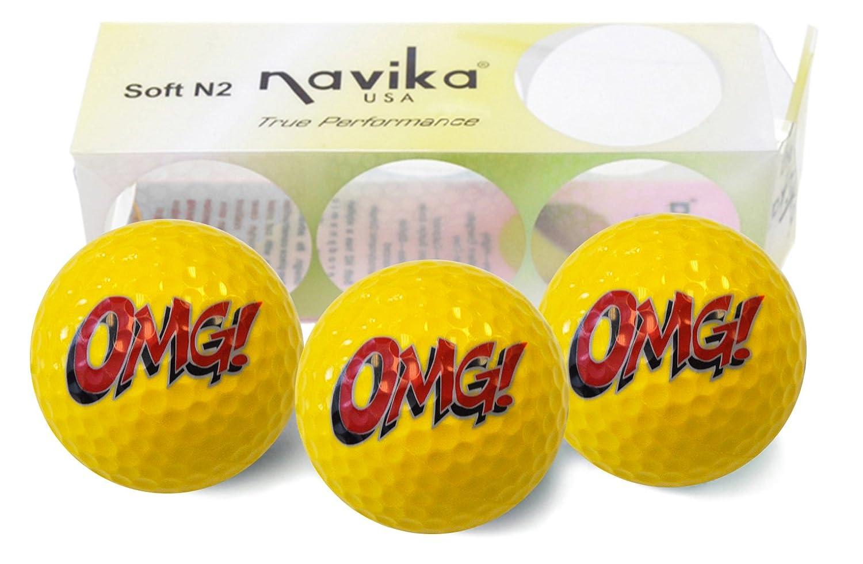 Navikaゴルフballs-絵文字OMGインプリント(スリーブの3 ) B07DLCLDT9