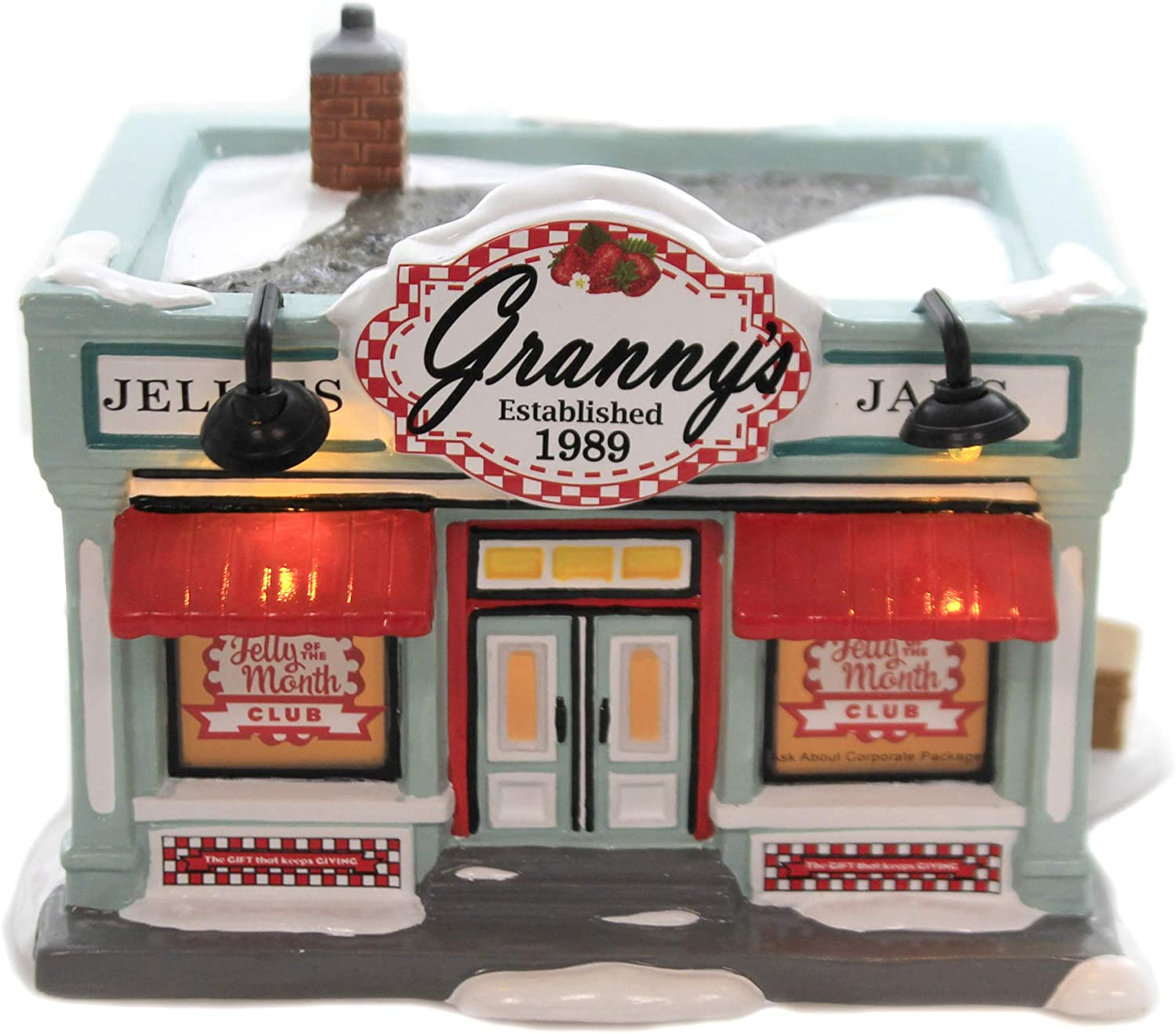 Department 56 National Lampoon's Christmas Vacation Snow Village Jelly of The Month Club Building 6005452