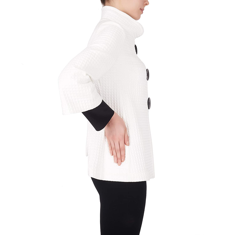 Joseph Ribkoff Ivory /& Black Vest Style 184436 Fall 2018