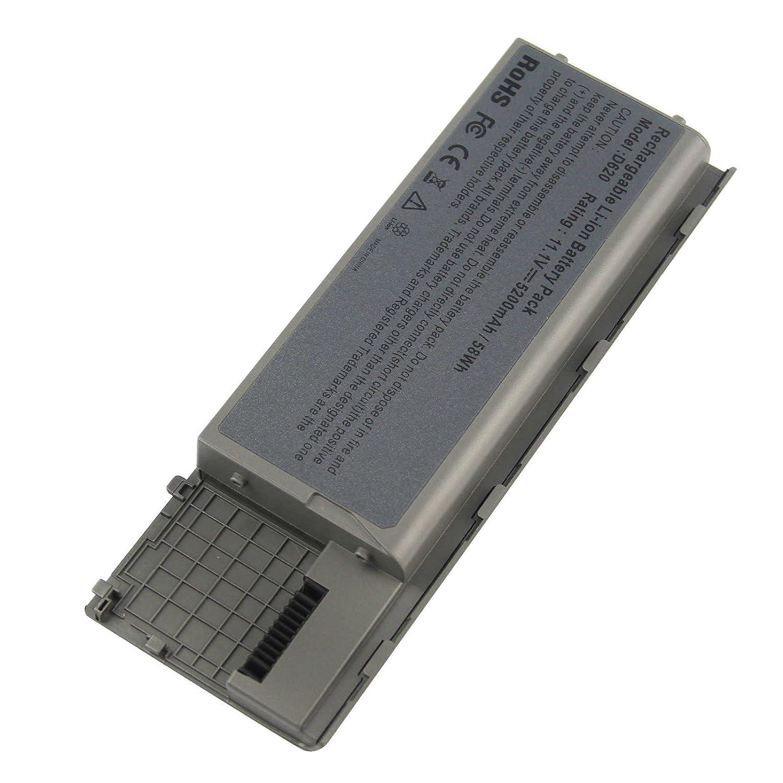 ARyee 5200mAh 11.1V D620 batería del ordenador portátil de la batería para Dell Latitude D620 D630 ATG D630c NT379 JD634 TD175 312-0383, gris metálico: ...