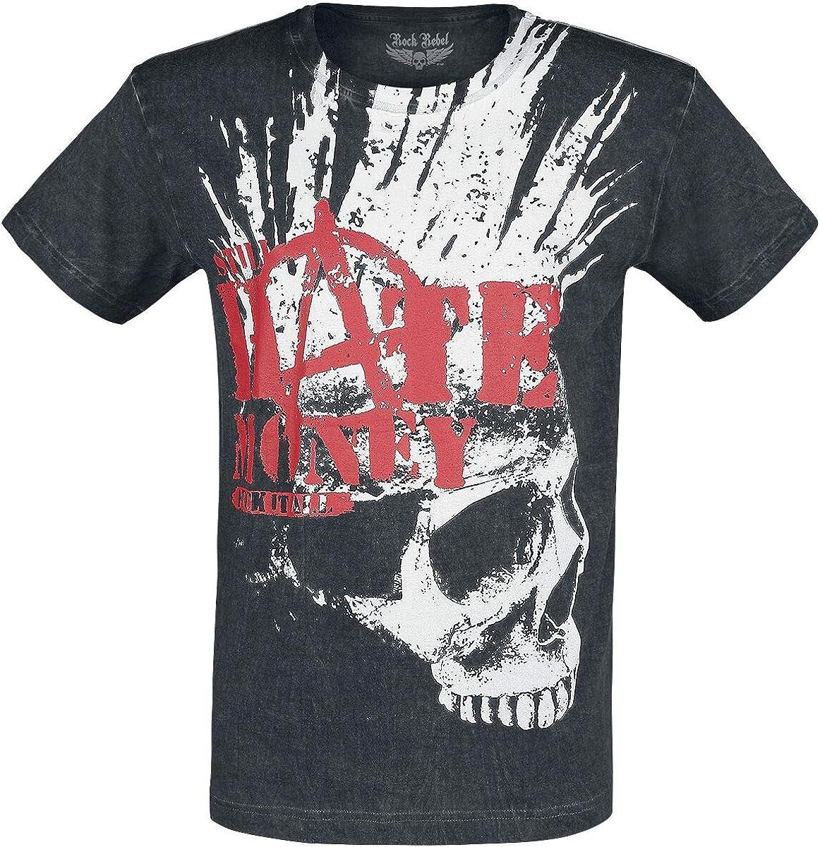 Rock Rebel by EMP Rebel Soul Hombre Camiseta Negro, Regular: Amazon.es: Ropa y accesorios