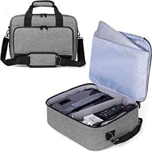 Luxja Projector Case, Projector Bag with Protective Laptop Sleeve, Projector Carrying Case with Accessories Pockets, Large(16 x 11.5 x 5.75 Inches), Gray