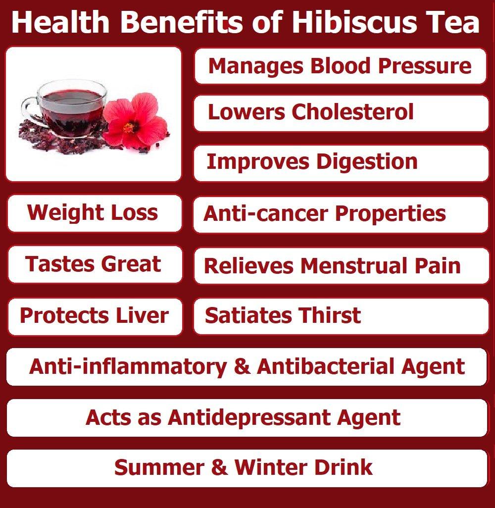 Hibiscus Tea Herbal Premium Tea Lower Blood Pressure Bagged 20 Bags