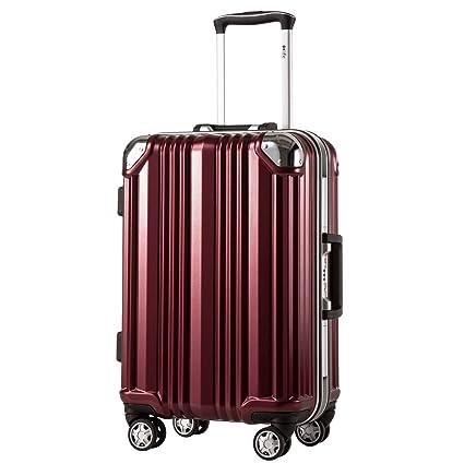 Amazon.com: Coolife TSA Lock - Maleta con marco de aluminio ...