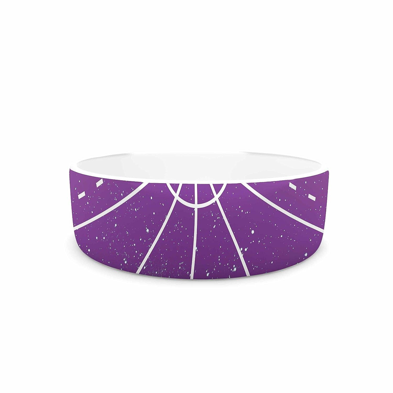 KESS InHouse Matt Eklund Dalaran Geometric Purple Pet Bowl, 7