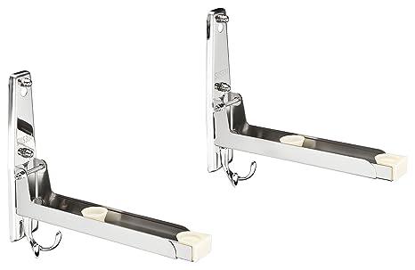 Credenza Per Microonde : Staffa di supporto da parete per forno a microonde con 4 ganci in