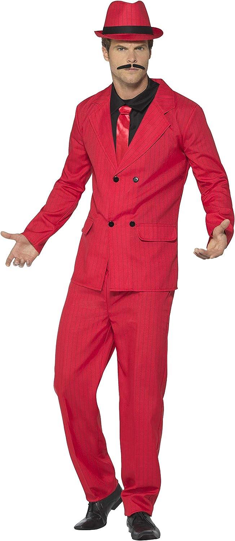 Smiffys Traje Zoot, rojo, con chaqueta, pantalones bombachos ...