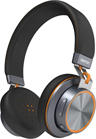 Amazon Com Betron S2 Wireless Headphones Bluetooth On Ear Headphones With Mic And Remote Controls Heavy Bass Sound Adjustable Headband Hands Free Call Including Wired Mode Electronics