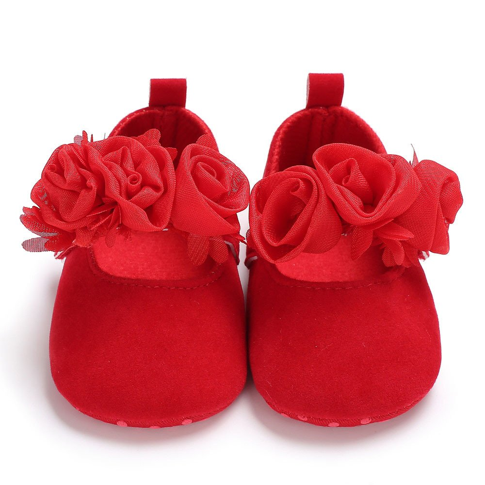 Baby Infant Girls Soft Sole Floral Princess Flat Shoes Prewalker Wedding Dress Shoes Seaintheson Baby Girls Shoes