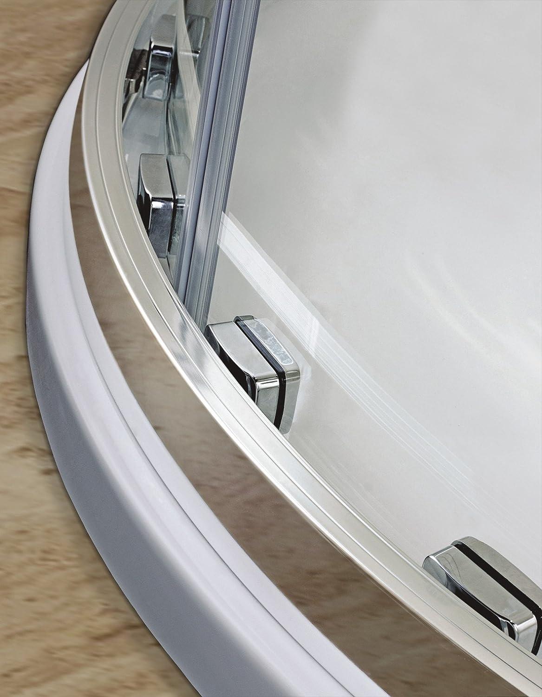 90X90X195cm Porte coulissante Paroi de douche acc/ès dangle cabine de douche verre anticalcaire