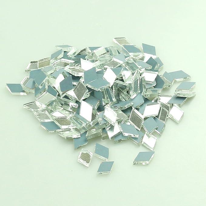 Diamantf/örmige Mosaik-Spiegelglasfliesen 200 St/ück 2,5 x 1,3 cm Dekoration f/ür Ihr Zuhause