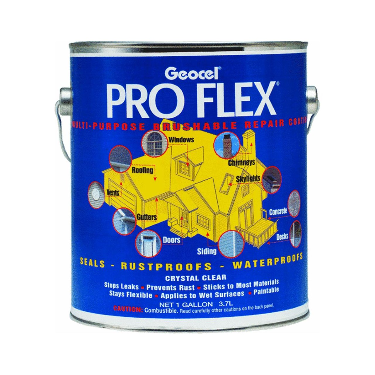Amazon.com: Geocel 22300 Pro Flex Multi Purpose Brushable Sealant   1  Gallon: Automotive