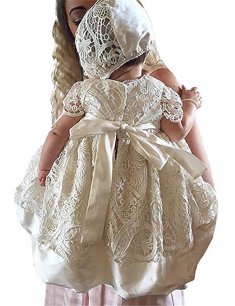 Amazon.com: Aorme Vestido de bautizo de encaje para niñas de ...