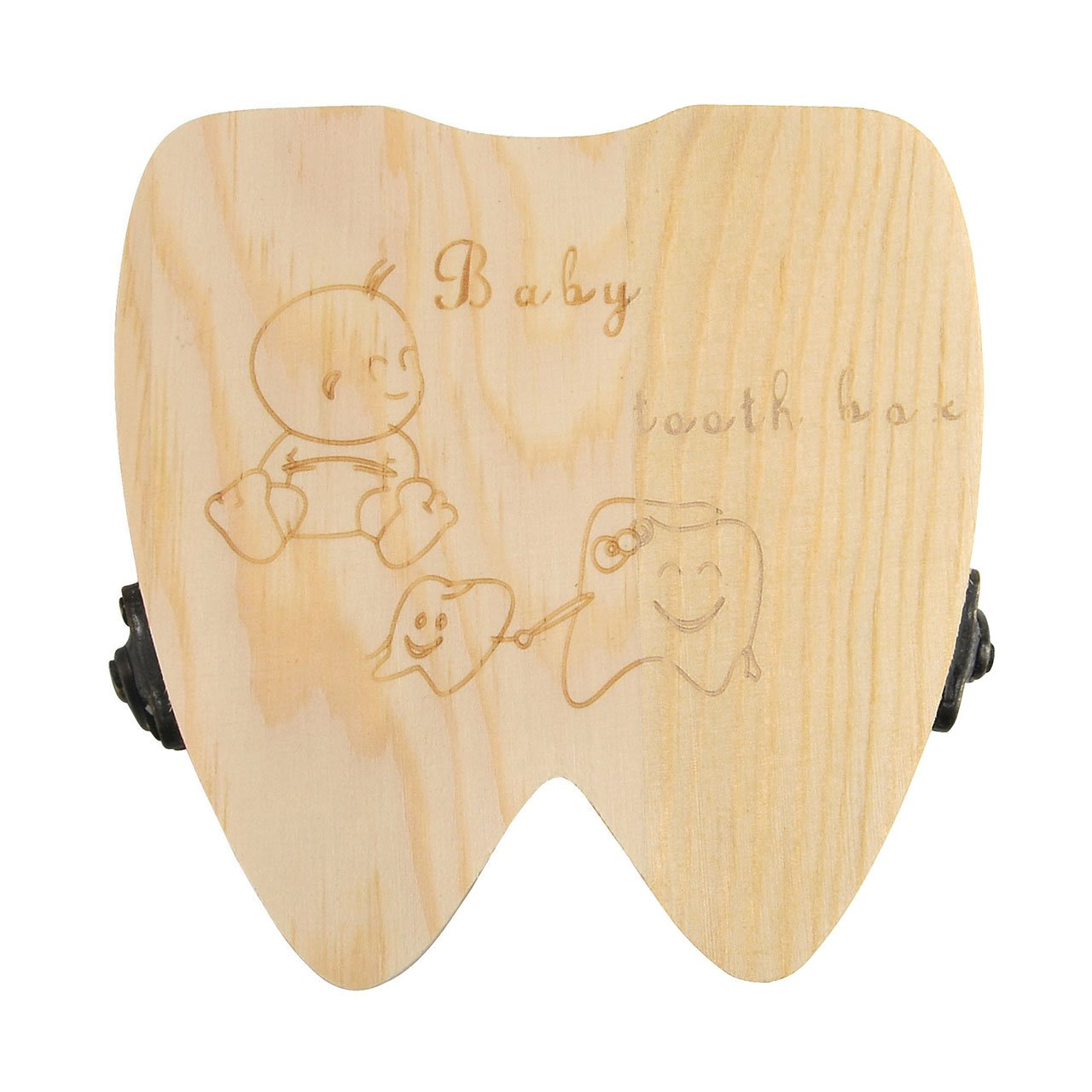 Teeth Saves Box for Children and Girls Children in Souvenir Wood Gift Accumulation of Teeth Girl