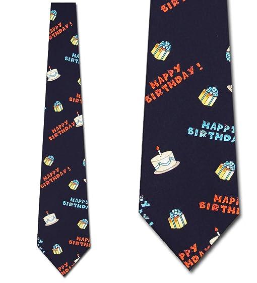 amazon com happy birthday necktie men s novelty tie clothing