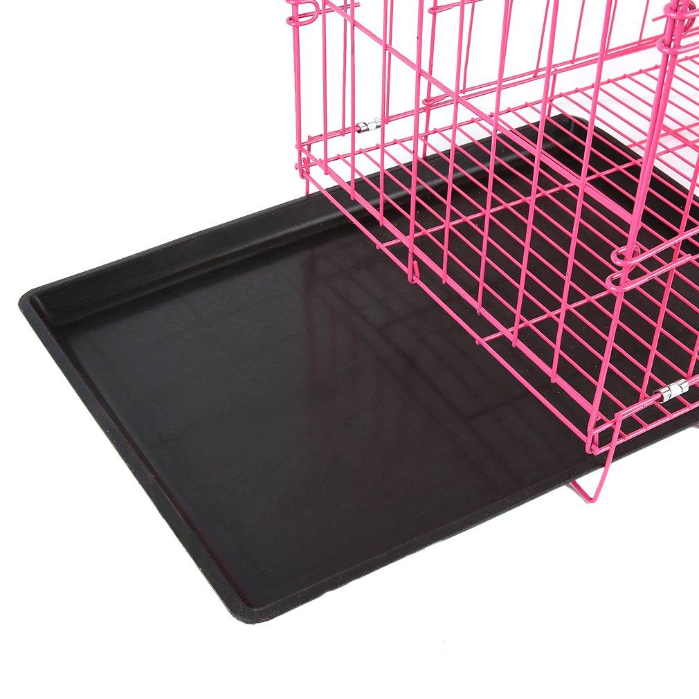 Burrby Jaula para Mascotas, 2 Puertas, Metal, Plegable, para Cachorros, Jaula de Entrenamiento, Bandeja extraíble de plástico ABS, 51 x 37 x 10 cm, ...