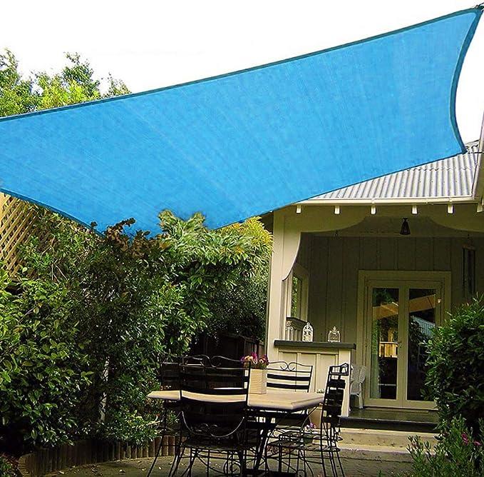 OldPAPA Vela de Sombra Rectángulo Impermeable Protector Solar Bloque 95% UV Jardin Terraza Piscina Sombra Pabellón con Cuerda Libre Azul 2x3m: Amazon.es: Jardín