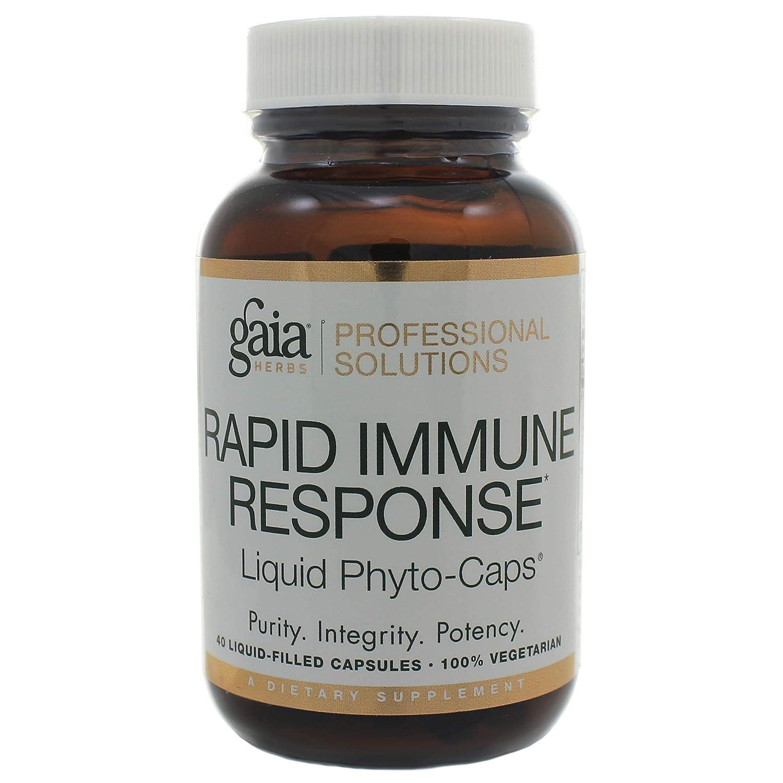 Gaia Herbs Rapid Immune Response Rx-A Defense 40 Liquid Phyto-Caps