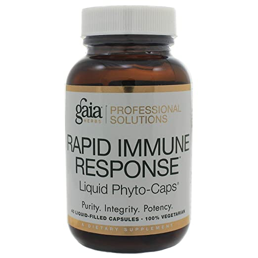 Amazon.com: Gaia Herbs Rapid Immune Response (Rx-A Defense) 40 Liquid Phyto-Caps: Health & Personal Care