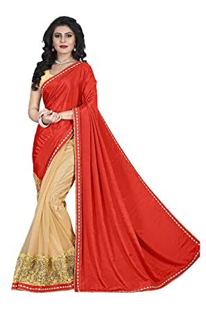 7f52b11d62b Image Unavailable. Image not available for. Color  Indian Fashion Indian  Women Saree Designer Party wear Wedding orange ...