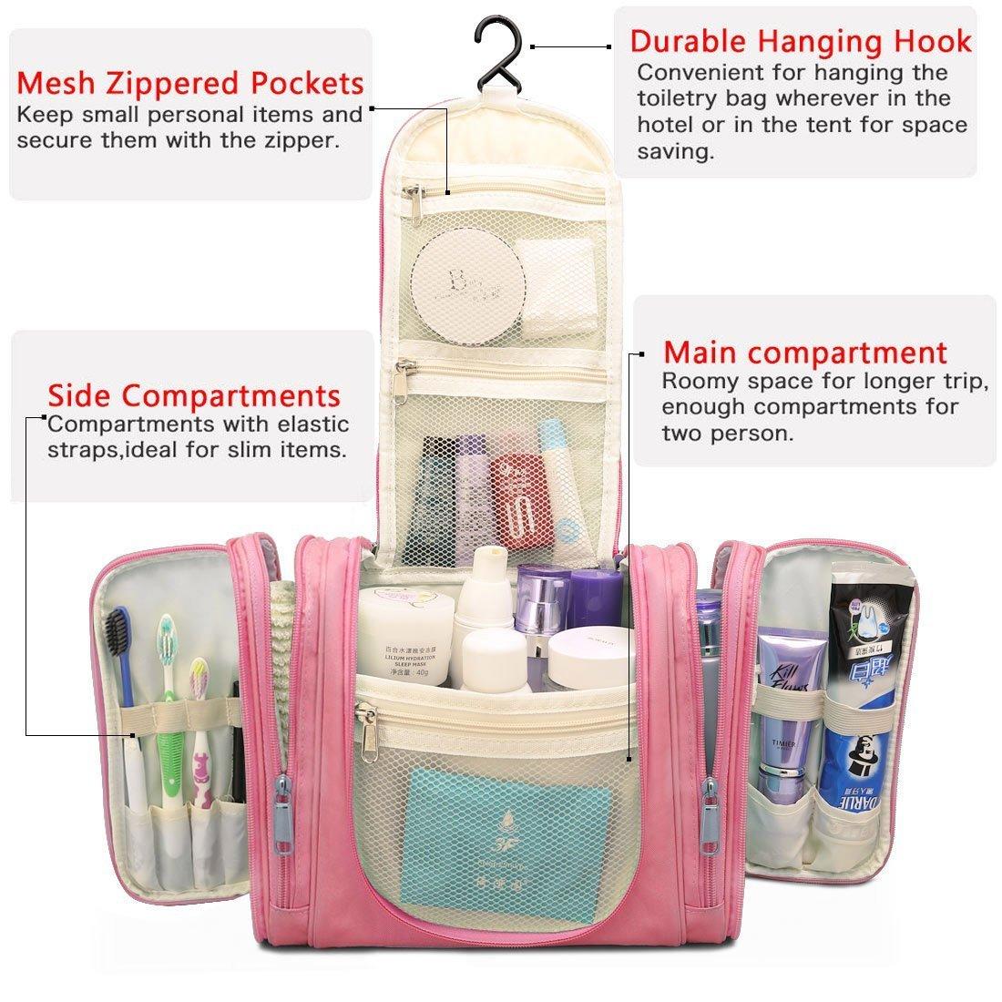 64e634dad1 Hanging Toiletry Bag Portable Travel Camping Organizer Waterproof Cosmetic  Makeup Shaving Bag Toiletry Kit for Men