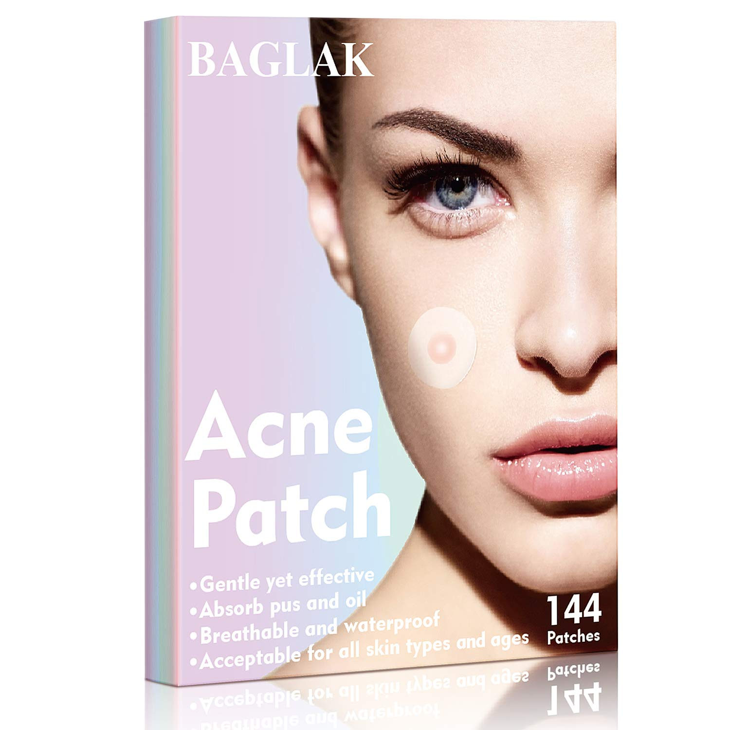 BAGLAK Acne Pimple Master Patch, Efficient And Fast,144 dots with 2 size.Invisible, waterproof, breathable, Facial Stickers.