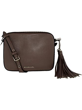 5052121f8c08 Michael Kors Women s Large Brooklyn Leather Camera Bag Cross Body - Cinder