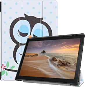 TiKeDa Lenovo Tab E10 TB-X104F Case Ight Weight Slim Case with Magnetic Cover for Lenovo Tab E10 TB-X104F 2018 (Owl)