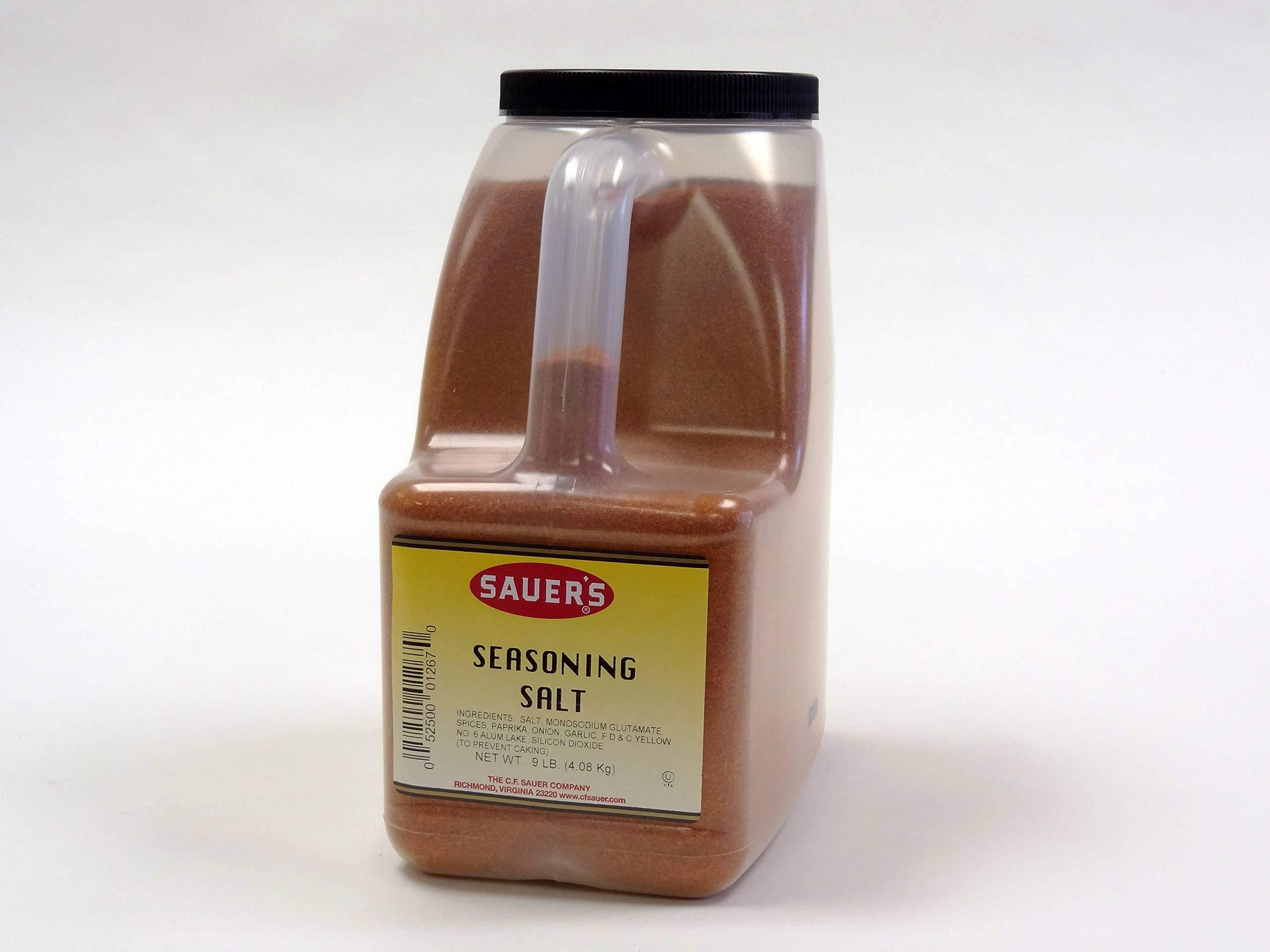 C.F. Sauer Foods Seasoning Salt, 9 Pound -- 3 per case.