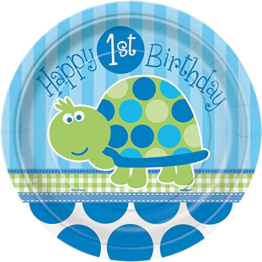 12ft Boys Turtle Happy 1st Birthday Foil Banner Party Decoration Supplies Baby