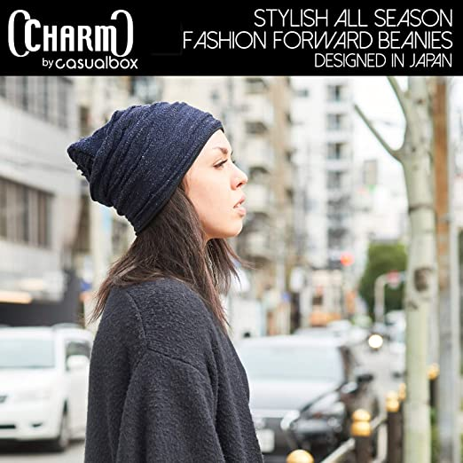 ac10dcb398a4ea Amazon.com: Organic Cotton Winter Hat - Men Slouchy Oversized Beanie Women  Chemo Cap Slouch All Season Unisex Black: Clothing