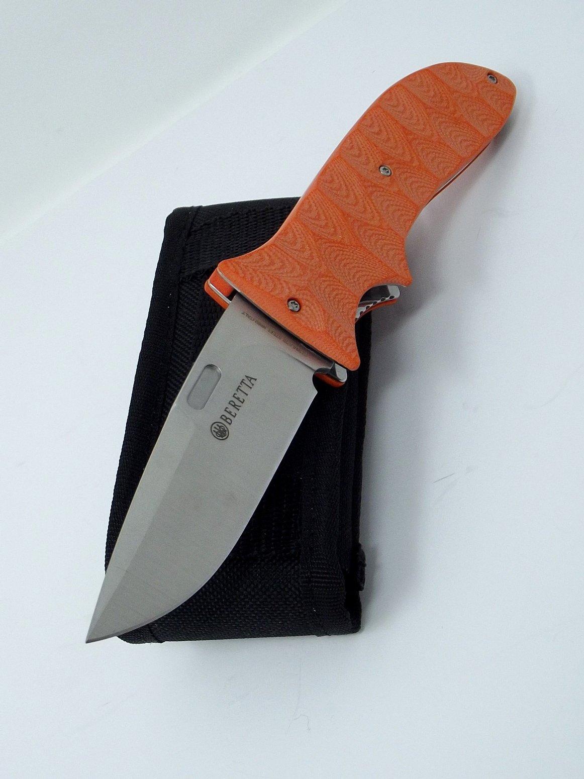 Maserin Made in Italy Beretta Pocketknife G10 Handle N690 Stainless Steel Blade Heavy Duty Belt Sheath