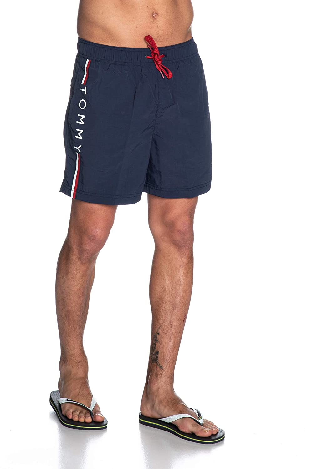 Blue Tommy Hilfiger Mens Medium Drawstring Swimshorts