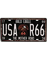 Evilandat Route 66 Vintage Metal Sign Old U.S.Rt.Placa de matrícula de la ruta