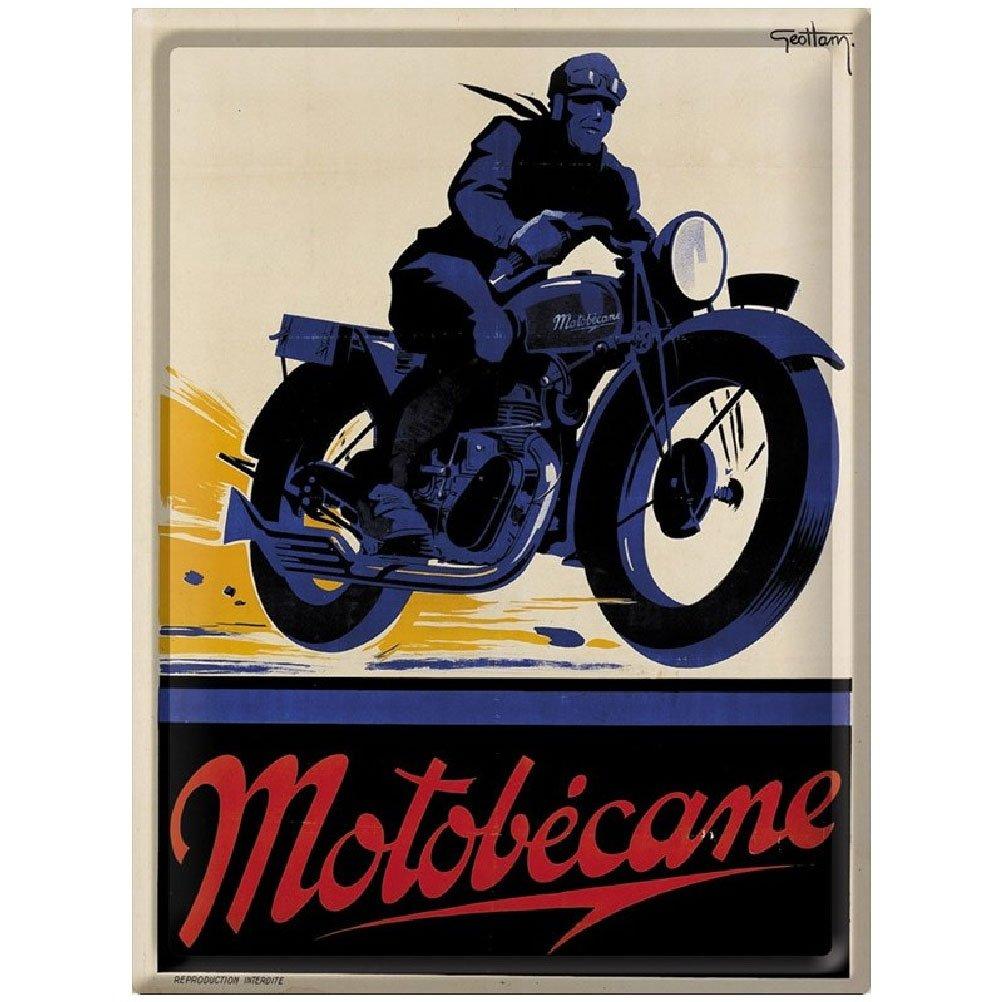 PLAQUE METAL 40X30cm PUB RETRO MOTO MOTOBECANE Rétro